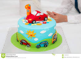 Birthday Cake With Number One Stock Photo Image Of Background
