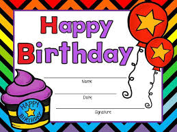 Birthday Certificate Templates Free Printable