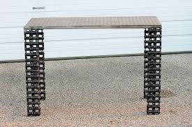 industrial metal sofa table raymond guest metal art at recycled salvage design