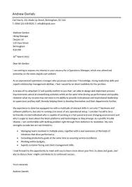 Pic Operations Manager Cover Letter Example Website Inspiration