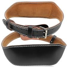 brown and black leather weight lifting belt