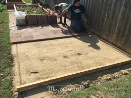 Raised paver patio Patio Ideas How To Install Paver Patio My Raised Garden Foundation 13 Creatingmaryshomecom How To Install Paver Patio the Foundation Of My Raised Garden