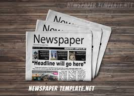 Newspaper Template For Photoshop Newspaper Template Pack Online Newspaper Template On Free Cover