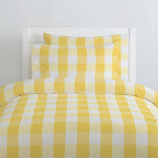 nice yellow gingham bedding your residence concept