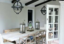 alpaca sherwin williams agreeable gray in farmhouse country style dining room dark wood paint bathroom