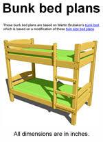 Bunk Bed Plans Image