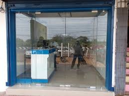 clear entrance glass door size dimension 3ft width and 7ft height