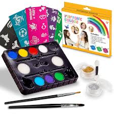 face painting kits free 40 stencils included use for birthday purim costume