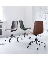 west elm office chair. Simple Elm West Elm Slope Office Chair Leather Old Saddle Nut Intended Chair