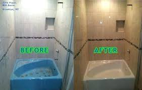 resurfacing bathroom tiles sydney with tub tile big before and after resurface