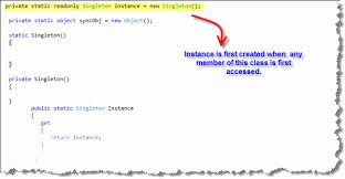 Singleton Pattern C Best Singleton Pattern Positive And Negative Aspects CodeProject