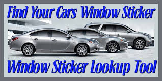 find your cars window sticker window sticker lookup tool