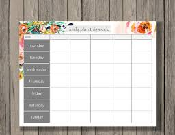 week schedule print out weekly calendar printable family plan printable schedule