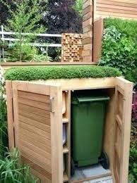 outdoor trash can hider hide garbage cans how to hide trash cans bin from lattice fence outdoor trash can hider hide