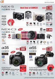 sony digital camera price. comex 2011 price list image brochure of sony digital cameras dslr alpha nex-5 nex. « camera