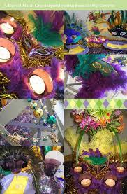 mardi gras table decorations