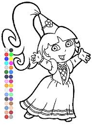 Small Picture Dora Coloring Games Dora Fairytale Coloring Pages YouTube