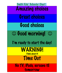 Color Behavior Chart Printable Tricks Treats From Someone Imperfectly Me Clip Chart