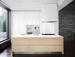 Multi Wood Kitchen Cabinets White Kitchen Cabinets With Natural Wood Interior 15585220170524