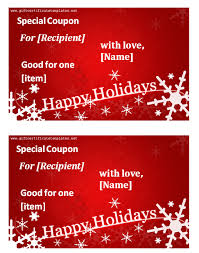 Holiday Templates Holiday Templates Gift Certificate Templates