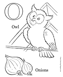 Our top 25 alphabet coloring pages for preschoolers: Alphabet Coloring Pictures O Is For Owl