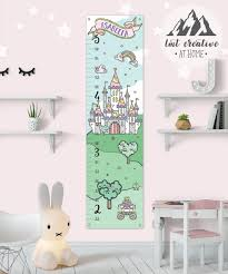 Personalized Princess Growth Chart Princess Growth Chart Personalized Growth Chart