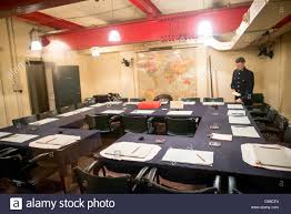 Cabinet War Museum The Main Cabinet War Room At The Churchill War Rooms In London