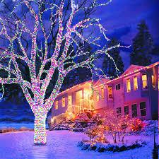 Outside Christmas Lights Outdoor Led Christmas Lights Happy Holidays