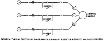 soft starters applications and types of soft starters primary resistor reduced voltage starter diagram