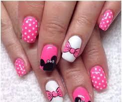Pink Nail Art Design 108 Bow Nail Art Designs