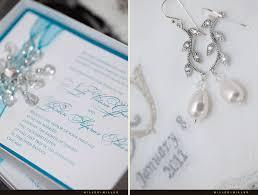 Snowflake Themed Wedding Invitations Winter Wonderland Themed