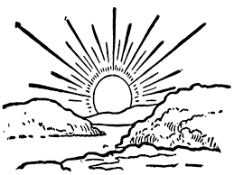 Sunset Coloring Pages To Download And