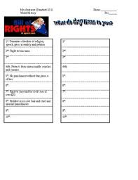 bill of rights ppt bill of rights what do they mean to you student handout for ppt by
