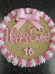 Sweet 16 Cookie Cake Custom Cookies Pinterest Sweet 16