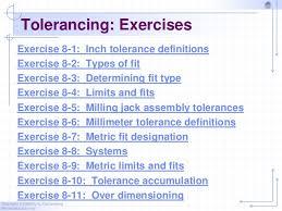 Chapter 8 Tolerancing 2010