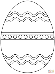 Easter Basket Coloring Pages With Plain Easter Egg Coloring Page