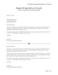 30 day notice to vacate letter landlord superpesis net sample letter 30 day notice to vacate