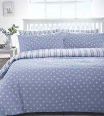 blue and white polka dot duvet cover