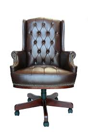 executive managers office chair brown leather managers directors chesterfield antique style captains leather o
