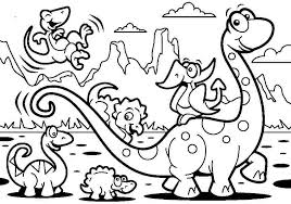 Small Picture Printable Dinosaur Coloring Pages Cute Preschool Dinosaur Coloring
