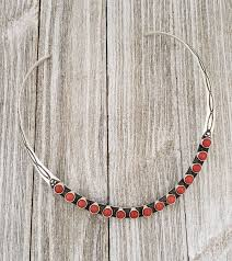 Herman Smith Sterling Silver Navajo Coral Collar Necklace– Turquoise925
