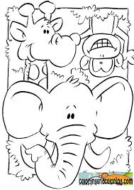 Jungle Animals Coloring Pages For Kids Coloring And Coloring Otc