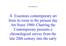 Art Since 1980 Charting The Contemporary Pdf Book Pdf Art Since 1980 Charting The Contemporary