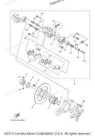 Yamaha atv 2006 oem parts diagram for rear brake caliper