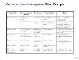 Simple Project Planning Template Simple Project Communication Plan Template
