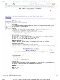 Ndt Level Ii Ut Technician Resume Cv Format Cv Sample Model