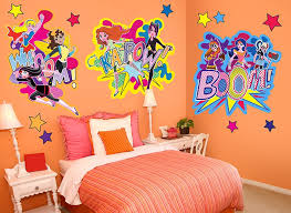 dc super hero girls character wall decal 3