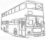 Картинка автобус раскраска