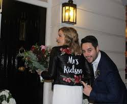 just married jackets are a cool way to end the day