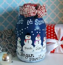 Decorate Jar Candles Personalized Hand Painted Country Snowman Christmas Jar Candle 90